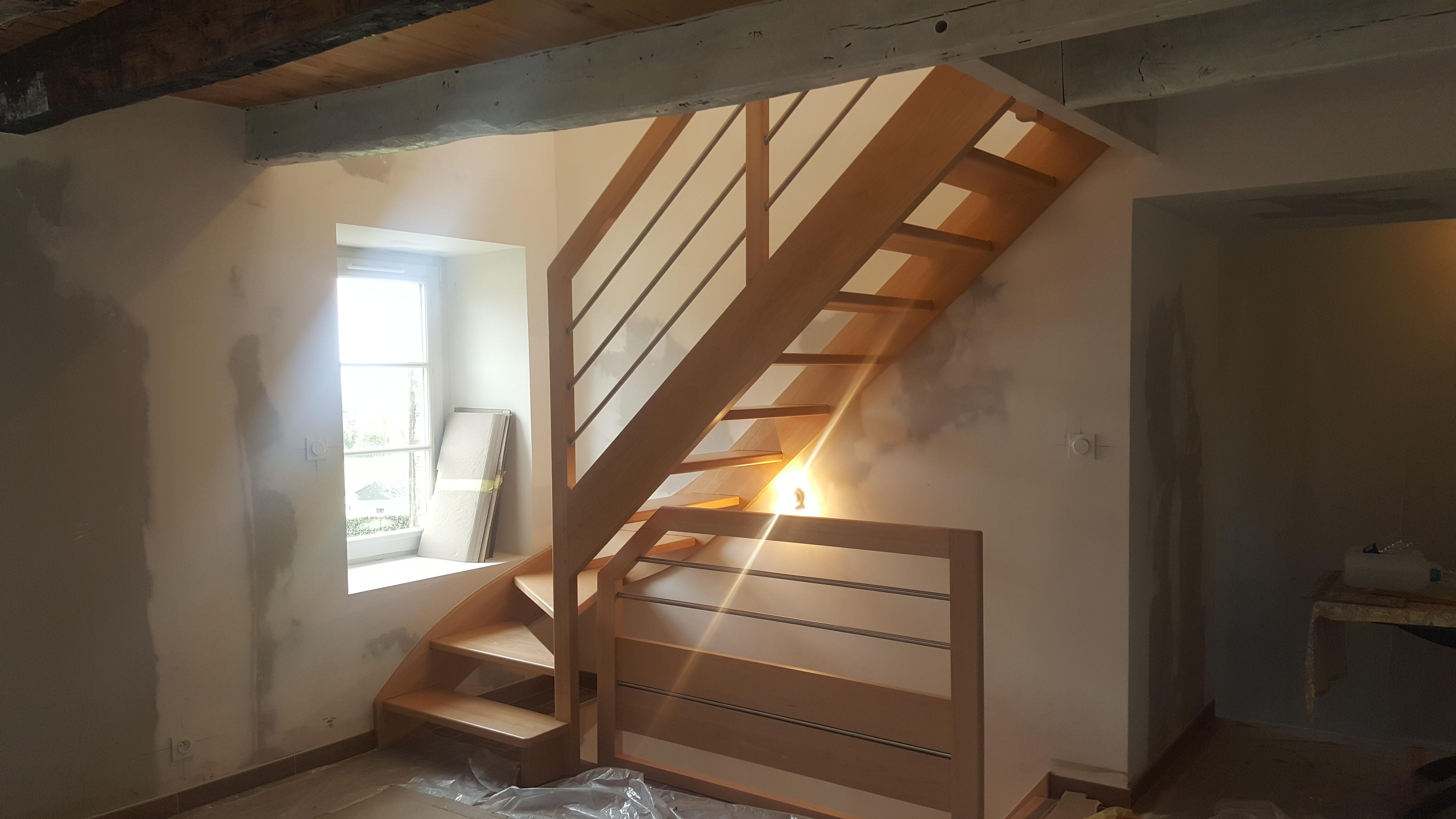 Creation D Une Tremie Escalier pose d'un escalier - artisan bernard bindé