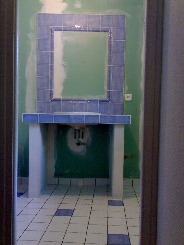 Création d'un meuble de salle de bains - Artisan Bernard Bindé Beignon