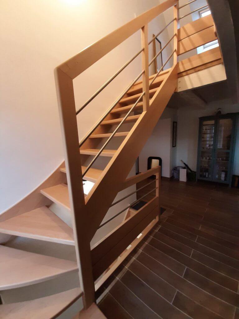 Pose d'escalier - ARTISAN BERNARD BINDE BEIGNON