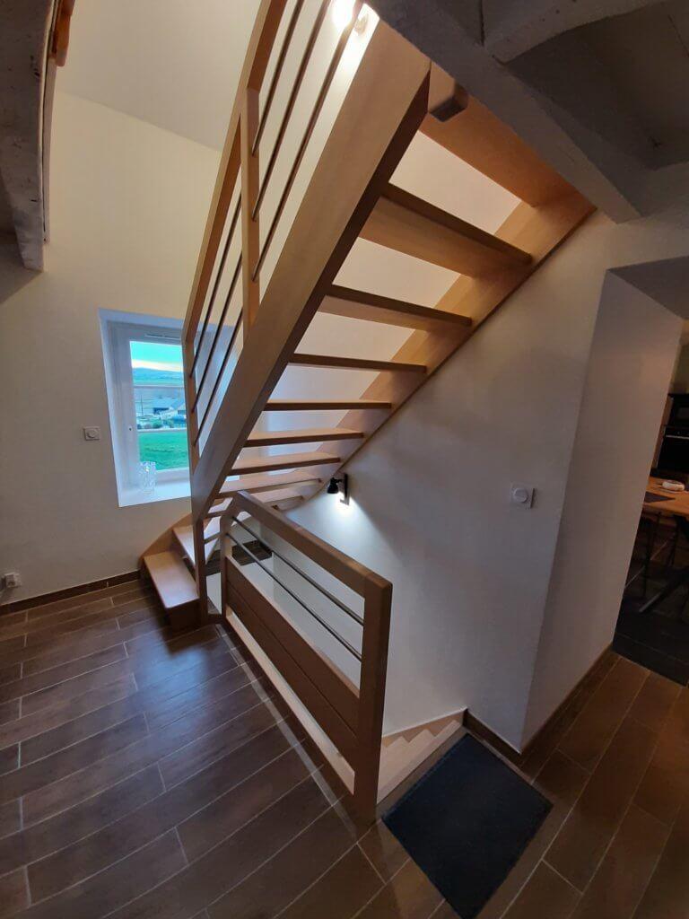 Pose escaliers - ARTISANBERNARD BINDE BEIGNON