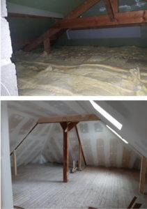 Rénovation intérieure des combles - Artisan Bernard Bindé Beignon
