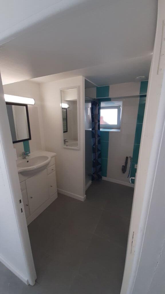 rénovation complète d'une salle de bains - artisan Bernard Bindé BEIGNON